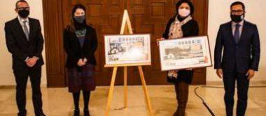 La Secretaría de Cultura y la Lotería Nacional presentan el billete conmemorativo de la inauguración del Complejo Cultural Los Pinos
