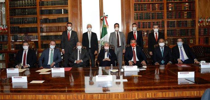 Recibe secretaria de Gobernación a gobernadores del Partido Revolucionario Institucional