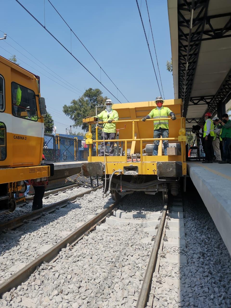 Registran avance del 83% trabajos de mantenimiento mayor en vías del Tren Ligero de la Ciudad de México