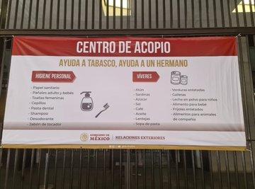 Delegación de la SRE en Tabasco cierra temporalmente, habilitan centro de acopio en sus instalaciones