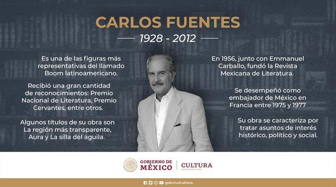 Recuerdan a Carlos Fuentes en el 92 aniversario de su natalicio