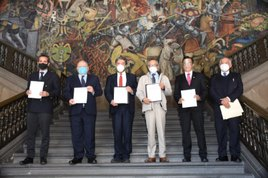 Firman SEP y Corredor Interoceánico convenio para mejorar la calidad de la educación en el Istmo de Tehuantepec