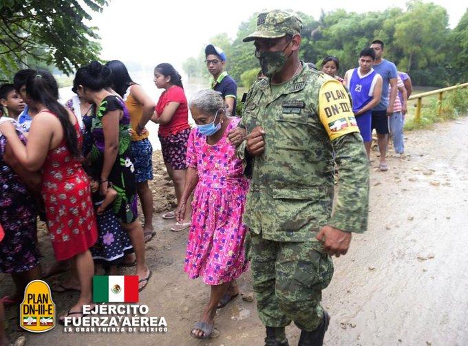 El Ejército y Fuerza Aérea Mexicanos continúan aplicando el Plan DN-III-E en Tabasco