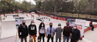 Entrega alcaldía Miguel Hidalgo Skate Park en parque Lira