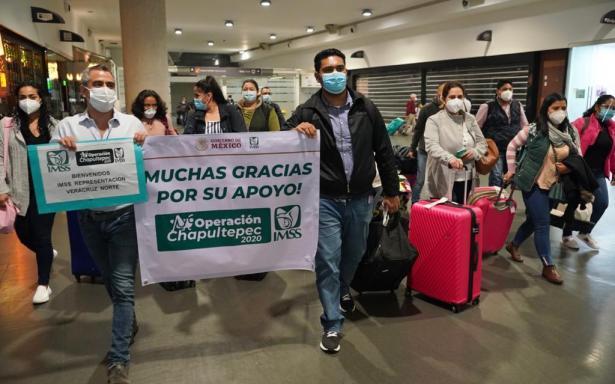 Personal de salud de 23 representaciones estatales del IMSS arribaron a la Ciudad de México para integrarse a Operación Chapultepec