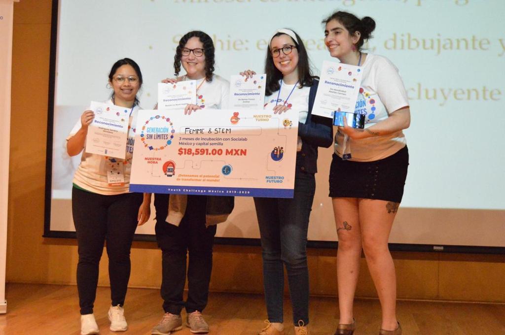 Triunfa equipo de jóvenes mexicanas en concurso convocado por UNICEF