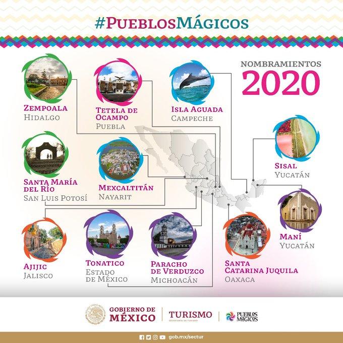 Anuncia la Secretaría de Turismo once nuevos Pueblos Mágicos