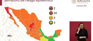 Casi todo el país estará en color naranja, este será  el semáforo epidemiológico para las siguientes dos semanas.