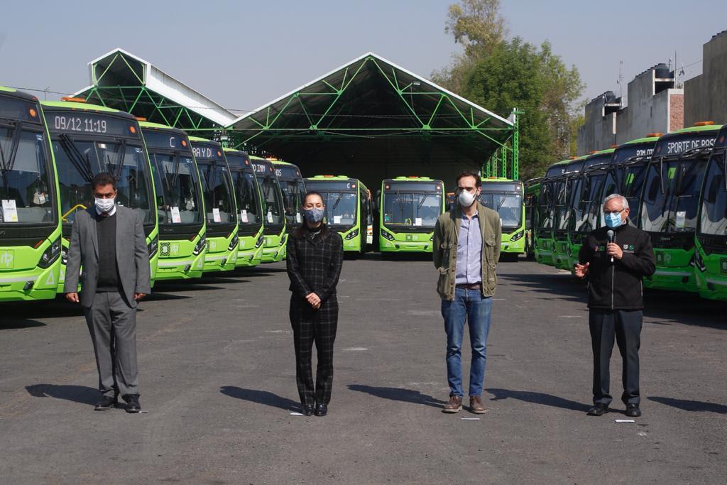 Pone en operación Gobierno capitalino 87 nuevas unidades de RTP con tecnología EURO VI