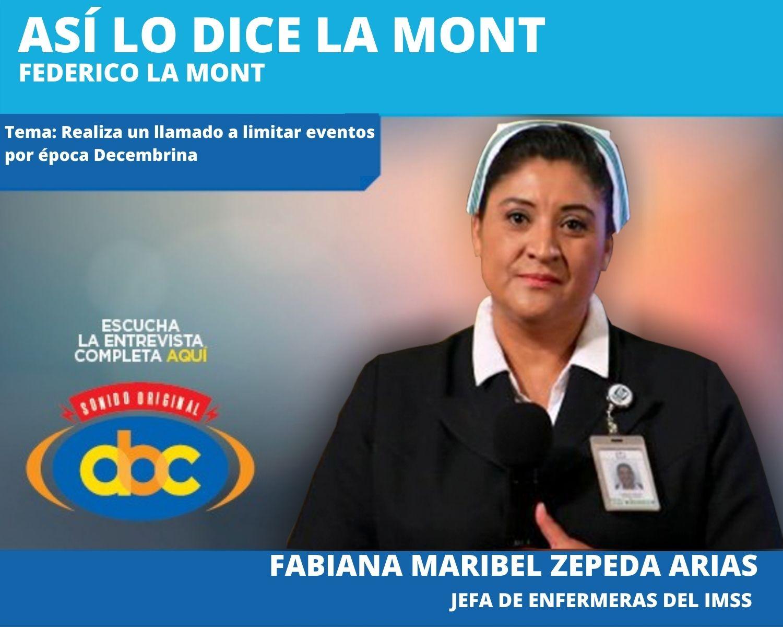 El objetivo principal es romper las cadenas de contagios en estas fiestas decembrinas: Fabiana Maribel Zepeda