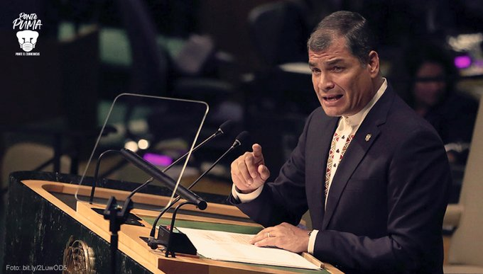 El expresidente de Ecuador , Rafael Correa participará en una serie de actividades académicas, organizadas por la UNAM