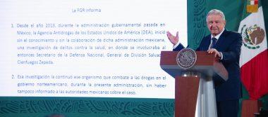El gobierno respalda la decisión de la FGR de no enjuiciar al general Cienfuegos,  EU hizo una investigación sin sustento: AMLO