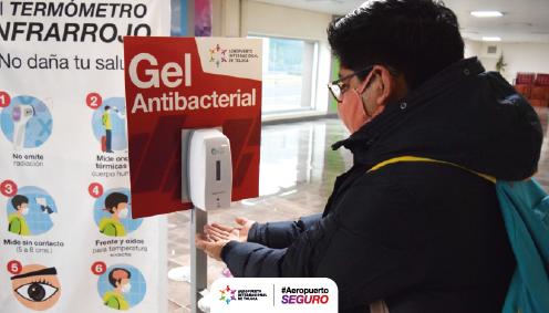 Logra Edoméx 159 mil acciones de prevención y diagnóstico a COVID-19 en Aeropuerto Internacional de Toluca
