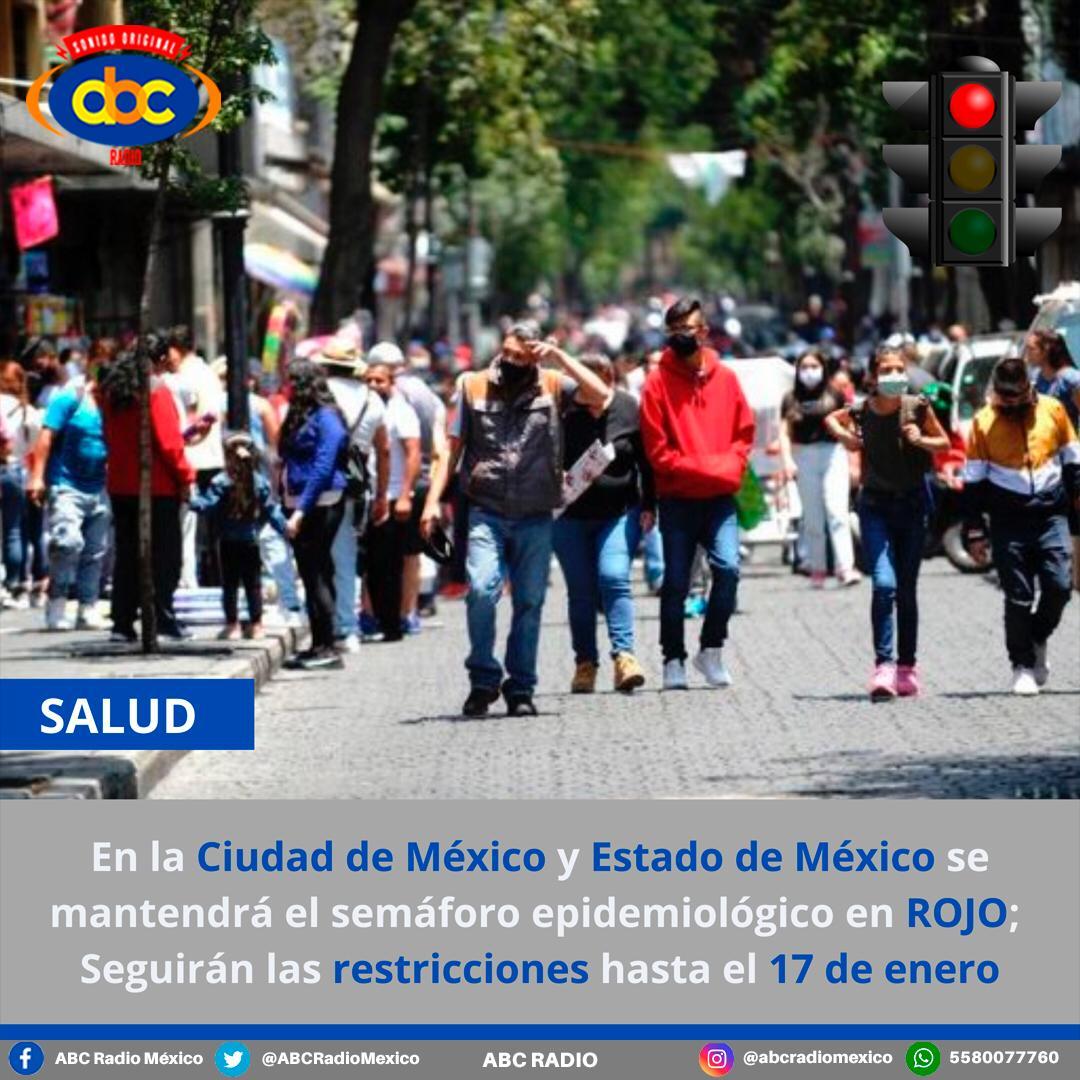 La Ciudad de México y Estado de México permanecerán en Semáforo Rojo