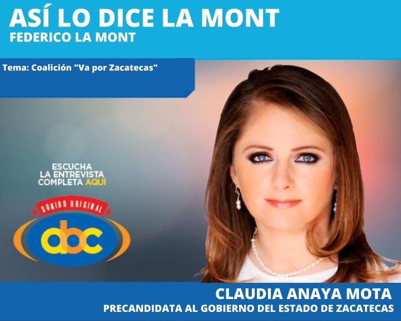 """""""Que sean los ciudadanos quienes decidan quién es el mejor candidato para Zacatecas"""": Claudia Anaya Mota"""