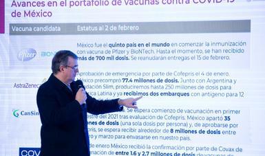 Gobierno de México presenta avances en portafolio de vacunas contra COVID-19