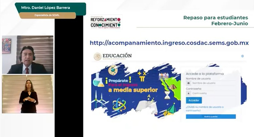 Presenta SEP la estrategia Reforzamiento del Conocimiento para estudiantes que ingresarán al Bachillerato