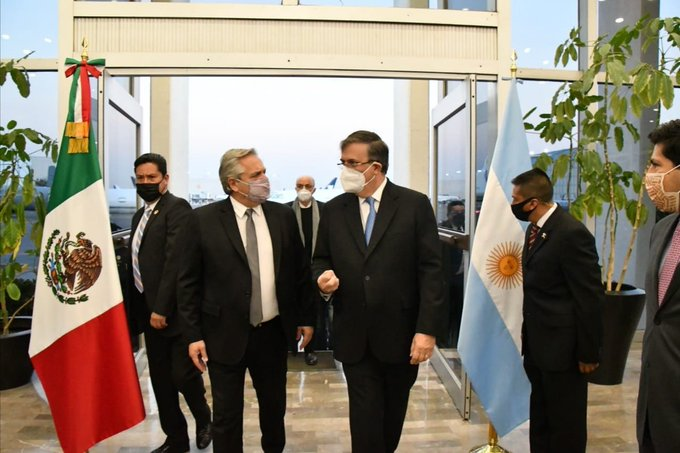 Presidente de Argentina, Alberto Ángel Fernández, llega a México para realizar una visita oficial