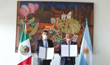 México y Argentina firman hoja de ruta para reactivar los mecanismos bilaterales de la Asociación Estratégica