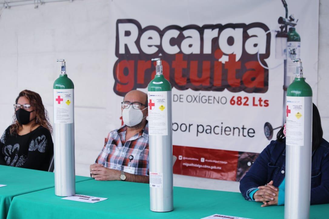 Alcaldía Miguel Hidalgo ofrece recarga gratuita de oxígeno