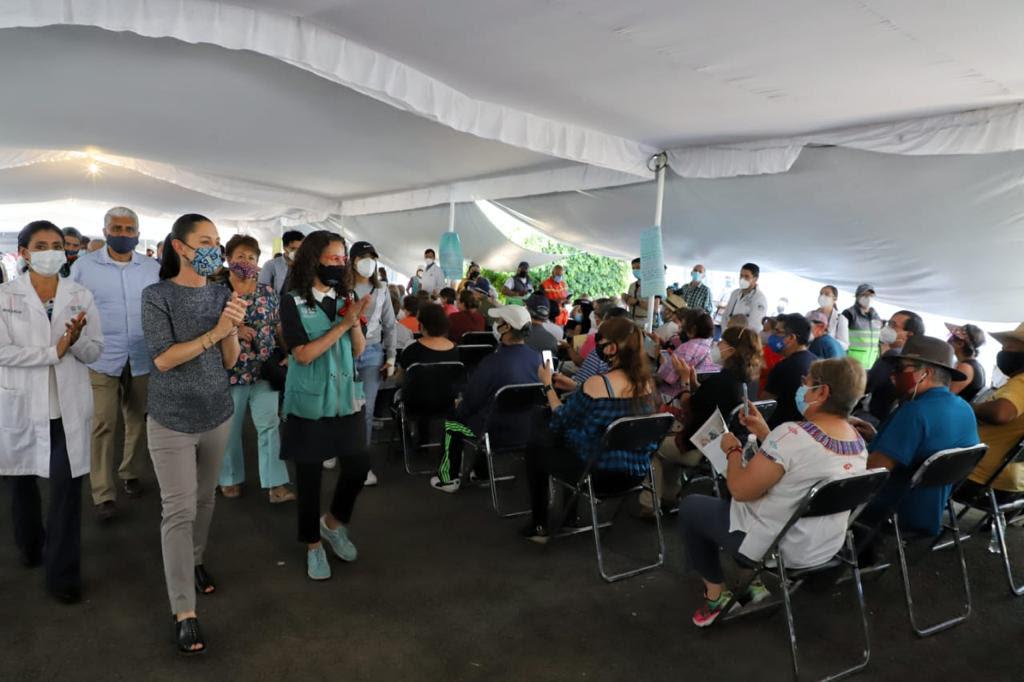 Realiza Jefa de Gobierno supervisión de jornada del Plan Nacional de Vacunación en la Alcaldía Coyoacán
