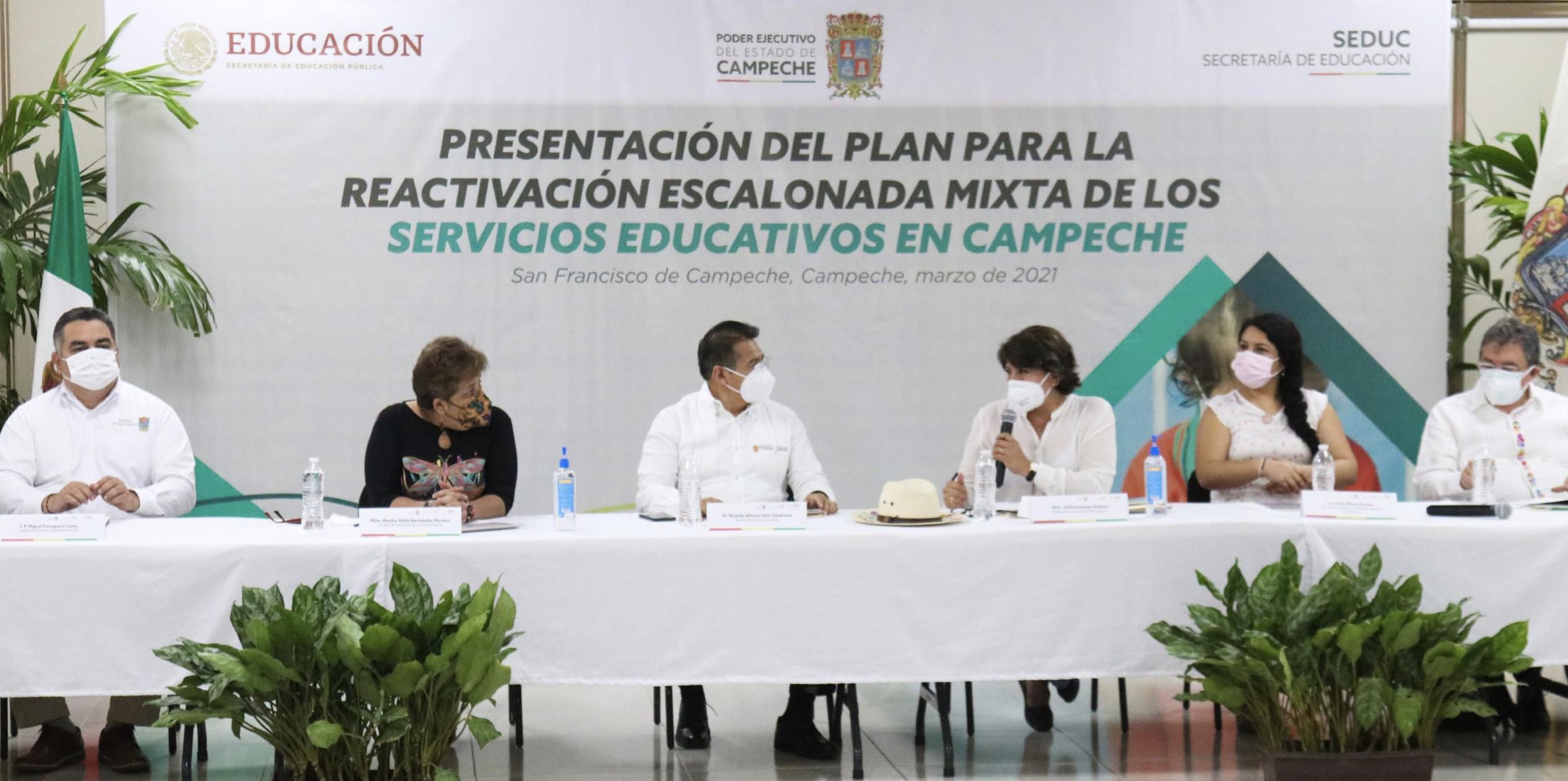 Avanzan Educación y Gobierno de Campeche en el plan para la reactivación de los servicios educativos en la entidad