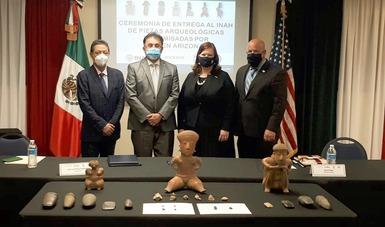 280 piezas arqueológicas regresan a México en el marco de colaboración México – Estados Unidos