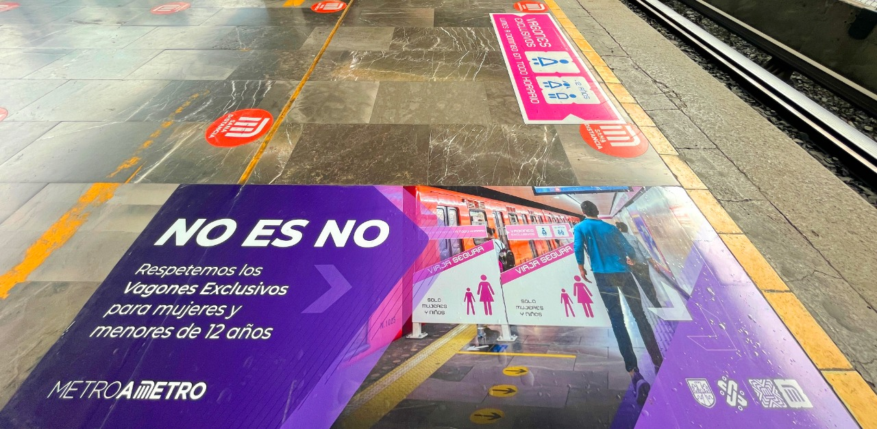 """STC intensifica visualización de espacios exclusivos para mujeres con """"No es no"""" y """"Atrás de la raya"""""""