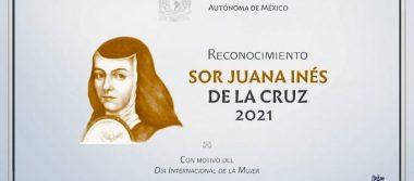 Recibirán 81 universitarias el Reconocimiento Sor Juana Inés de la Cruz 2021