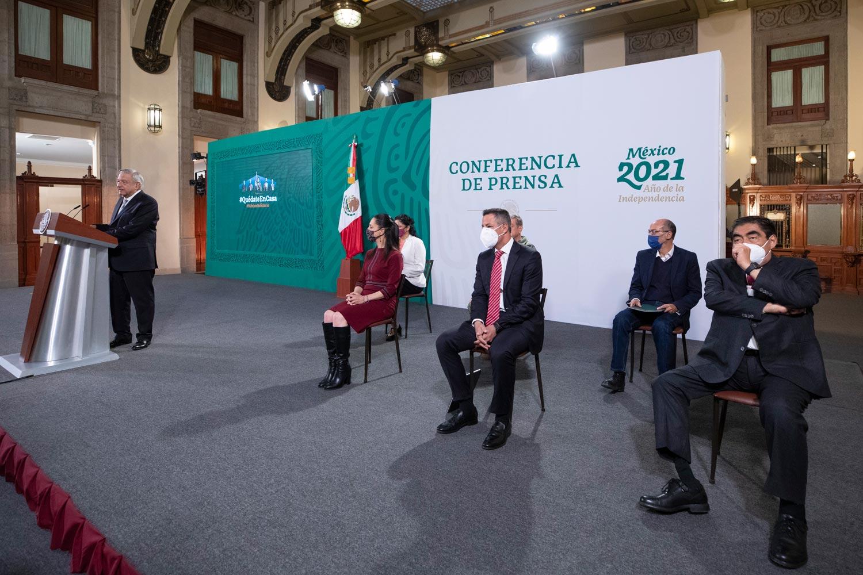 Gobierno Federal presenta informe sobre el Programa Nacional de Reconstrucción por los sismos de 2017 y 2018.