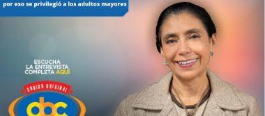 """""""La segunda dosis está garantizada, por eso se privilegió a los adultos mayores"""": Oliva López, Secretaria de Salud"""