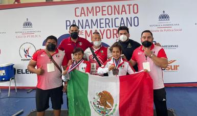 México logra 12 medallas en Panamericano de Levantamiento de Pesas