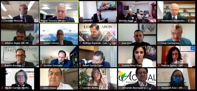 Celebra el Consejo de Diplomacia Turística su Primera Sesión Ordinaria 2021