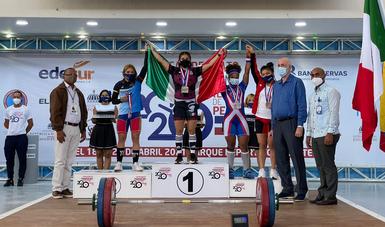 Ganan pesistas nacionales siete medallas en Campeonato Panamericano