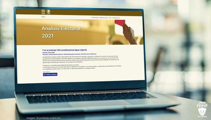 Portal del Instituto de Investigaciones Jurídicas de la UNAM dará seguimiento al proceso electoral en el país