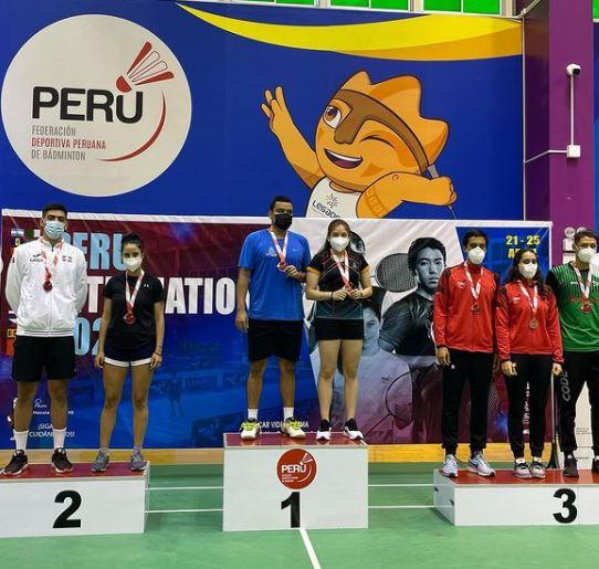 México cosecha tres medallas en el Perú Internacional de Bádminton 2021