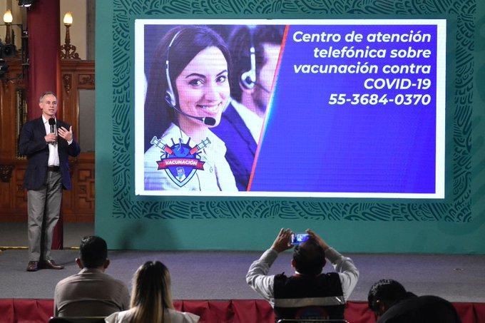 SSA da a conocer nuevo número telefónico para consulta ciudadana sobre vacuna contra COVID-19