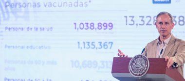 """""""En el país ya hay 13 millones 328 mil 238 personas vacunadas contra Covid-19"""" López Gatell"""