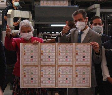 Concluye Talleres Gráficos de México impresión de las boletas de las elecciones federales y hoy se entregaron al INE