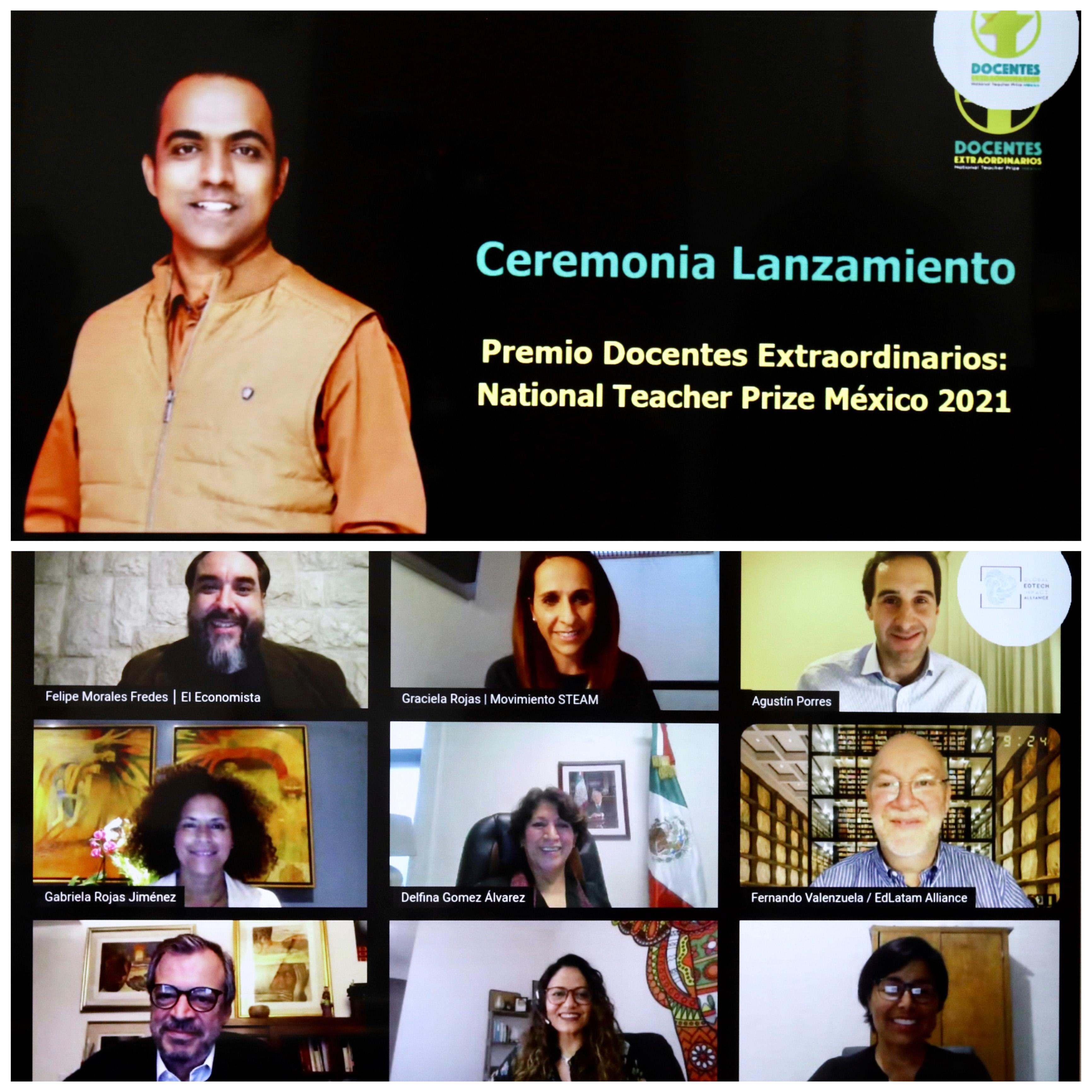 Participa SEP en el lanzamiento del Premio Docentes Extraordinarios National Teacher Prize México 2021.