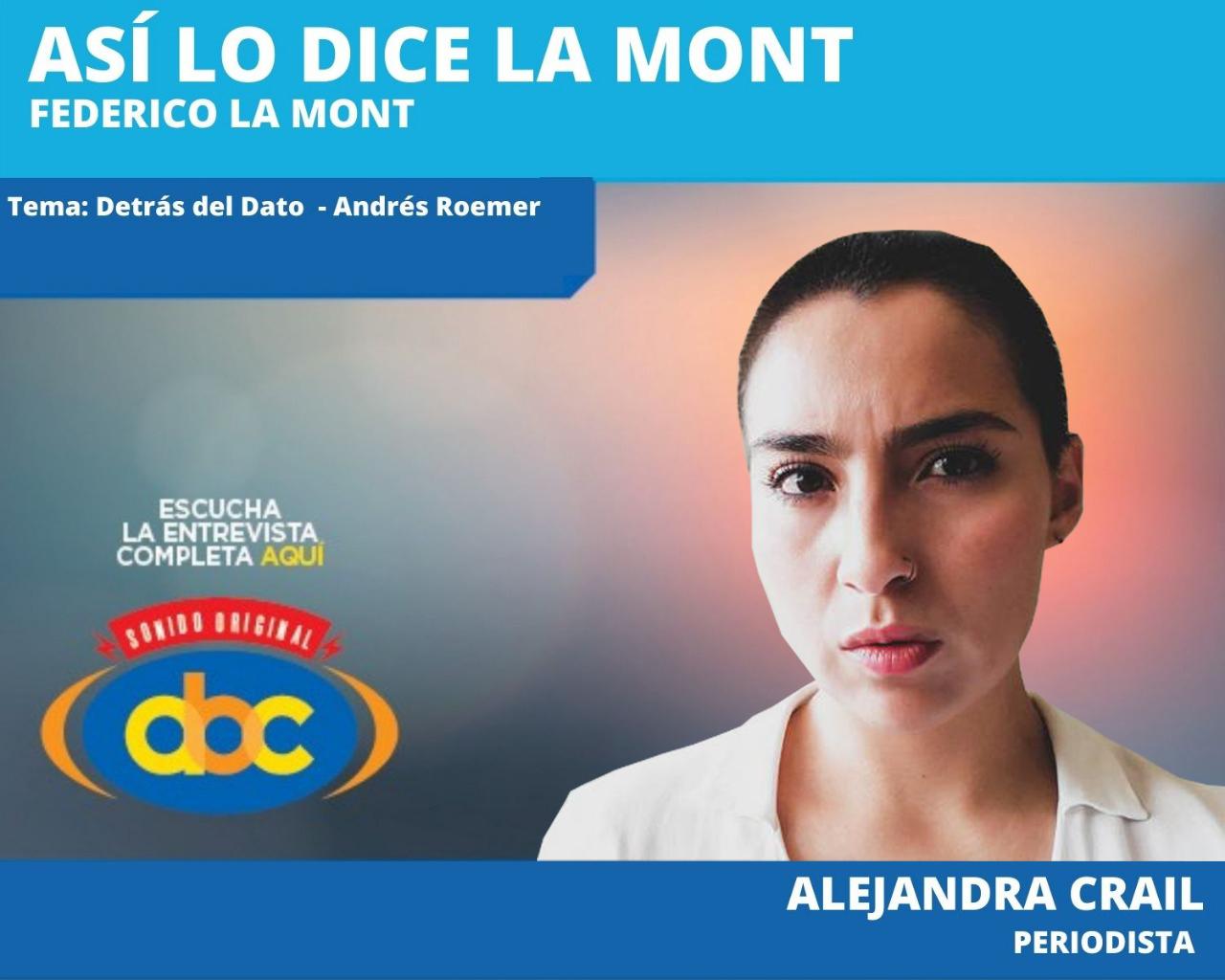 Andrés Roemer en Detrás del dato con Alejandra Crail