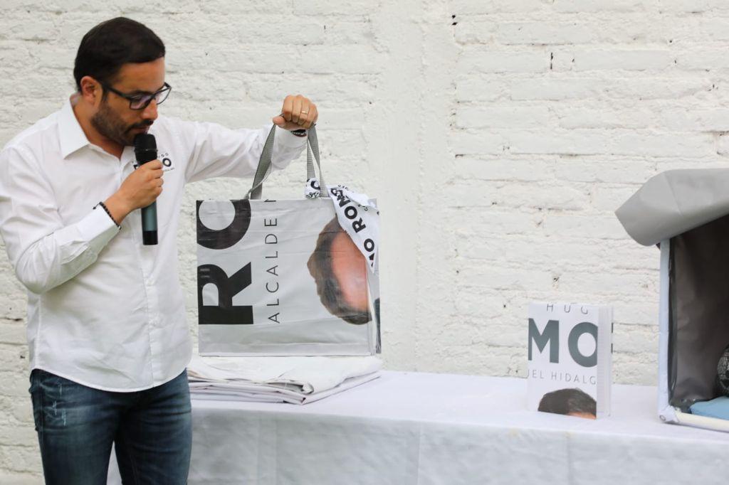 Reciclará Víctor Romo toda su propaganda electoral