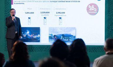 México alcanzó hoy los 40 millones de vacunas desde el inicio de la pandemia y cerrará junio con 65 millones de dosis.