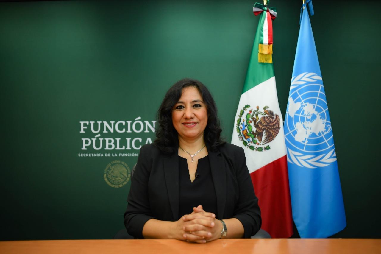 Ante Naciones Unidas, la Secretaria Irma Eréndira Sandoval expone que la transformación política sólo es posible erradicando la corrupción