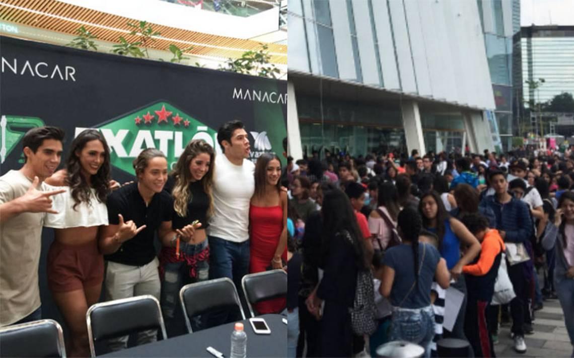 [Video] Fans abarrotan plaza comercial para ver a participantes de Exatlón