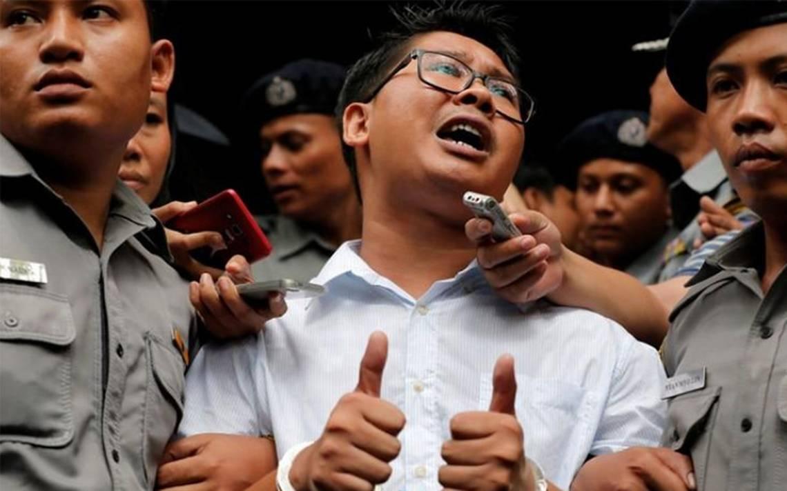 Periodistas de Reuters arrestados en Myanmar, sentenciados a siete años de cárcel