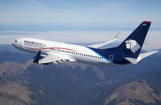 Aeroméxico reporta aumento de  7.5 por ciento en traslado de viajeros