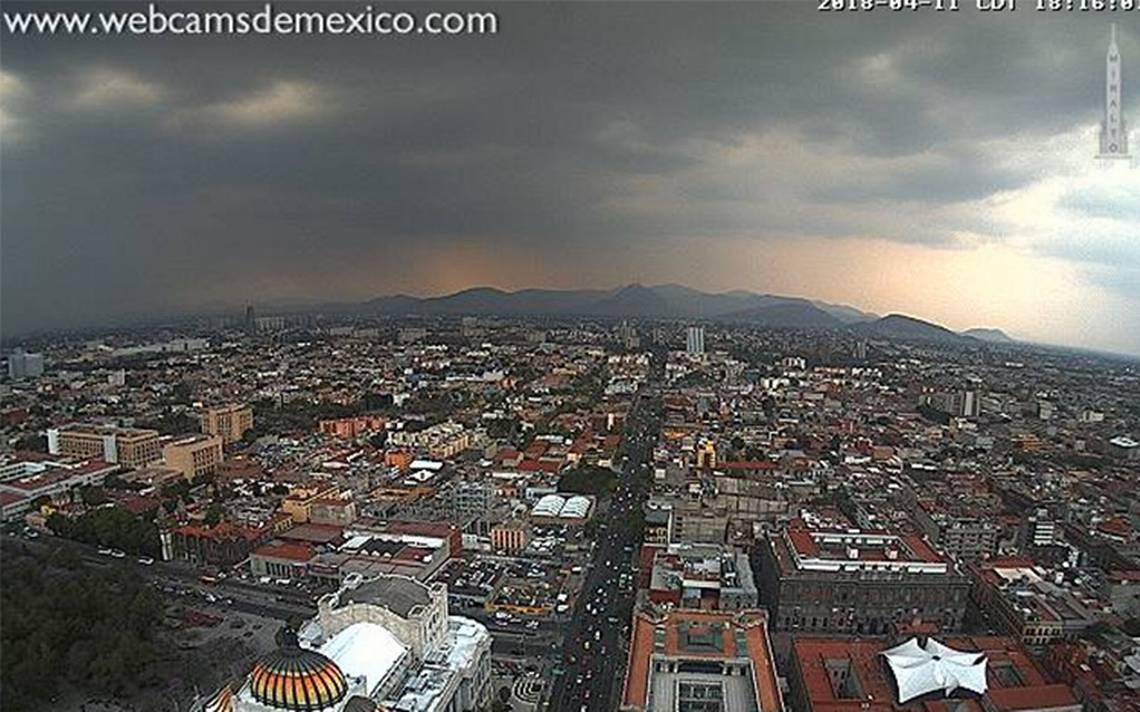 Llueve en al menos cinco delegaciones de la Ciudad de México