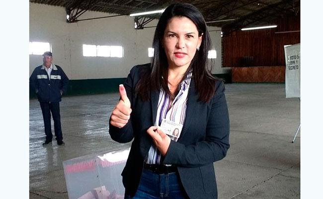 Agradece apoyo de la ciudadanía Castell de Oro, candidata en Edomex