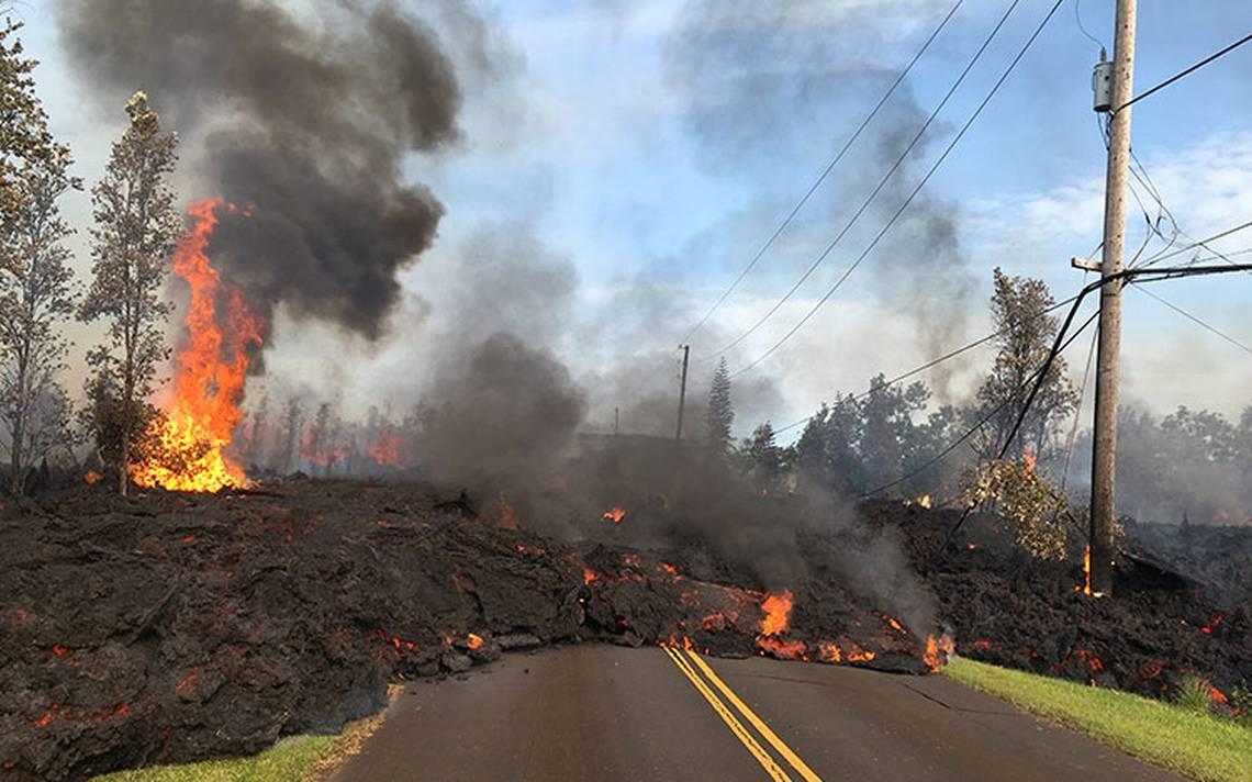 #Galería Furia del volcán Kilauea destruye 21 casas en Hawai